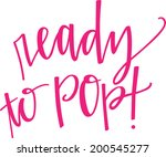 ready to pop vector | Shutterstock .eps vector #200545277