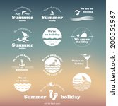 summer typography design with... | Shutterstock .eps vector #200551967