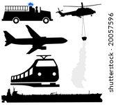 oil tanker fire engine... | Shutterstock .eps vector #20057596
