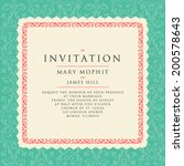 invitation with a rich... | Shutterstock .eps vector #200578643