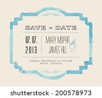 save the date with watercolor... | Shutterstock .eps vector #200578973