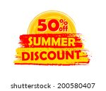 50 percentages off summer... | Shutterstock .eps vector #200580407
