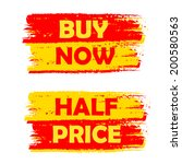 buy now and half price banners  ... | Shutterstock .eps vector #200580563