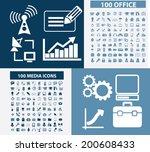 200 office  business  media ... | Shutterstock .eps vector #200608433