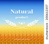 wheat field labeled natural... | Shutterstock .eps vector #200612357