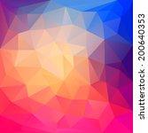 abstract geometric polygonal... | Shutterstock .eps vector #200640353