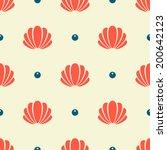 seashell seamless pattern | Shutterstock .eps vector #200642123