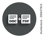 export doc to pdf icon. file... | Shutterstock .eps vector #200657813