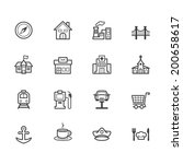 place vector black icon set on... | Shutterstock .eps vector #200658617
