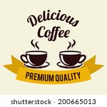 coffee design over white... | Shutterstock .eps vector #200665013