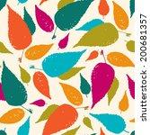 seamless leaf pattern. | Shutterstock . vector #200681357