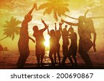 people enjoying party by the... | Shutterstock . vector #200690867