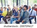 multi ethnic group of people in ... | Shutterstock . vector #200709617