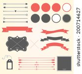 vector set of design elements | Shutterstock .eps vector #200714627