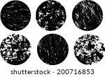 scratched grunge circles... | Shutterstock .eps vector #200716853