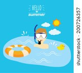 summer holiday lifestyle vector ... | Shutterstock .eps vector #200726357