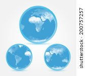 globe earth blue icons in... | Shutterstock .eps vector #200757257
