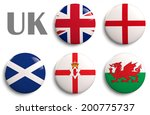 british isles flags of the... | Shutterstock . vector #200775737