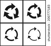 4 arrow sign reload refresh... | Shutterstock .eps vector #200777183