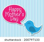 mother's day vector card with... | Shutterstock .eps vector #200797133