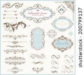 ornate frames and scroll... | Shutterstock .eps vector #200799137