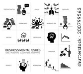 vector business mental issues... | Shutterstock .eps vector #200799563