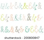 vector ampersand collection.... | Shutterstock .eps vector #200800847