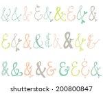 cute  hand drawn vector... | Shutterstock .eps vector #200800847