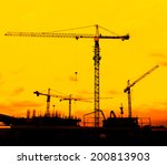 construction site crane... | Shutterstock . vector #200813903