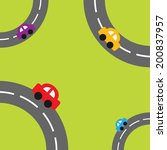 background with roads in the...   Shutterstock .eps vector #200837957
