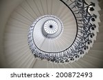 Small photo of LONDON UK - MAY 15, 2014: Queen's palace tulips stairs, 1619. Was built as an adjunct to the Tudor Palace.