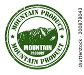 mountain product grunge rubber... | Shutterstock .eps vector #200878043