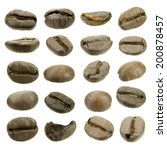 collection of coffee bean...   Shutterstock . vector #200878457