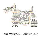 Canine Themed Dog Word Cloud...