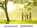 asian family having quality... | Shutterstock . vector #200899847
