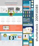 one page website design... | Shutterstock .eps vector #200910383