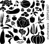 vegetables and fruits | Shutterstock .eps vector #200916587