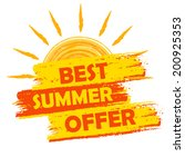 best summer offer banner   text ... | Shutterstock . vector #200925353