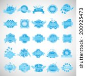 water labels set   isolated on... | Shutterstock .eps vector #200925473