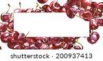 watercolor fresh cherry berries ...   Shutterstock . vector #200937413