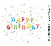 the words happy birthday with...   Shutterstock . vector #200941247