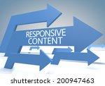 responsive content 3d render...