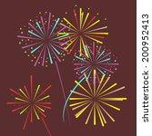 vector firework  | Shutterstock .eps vector #200952413