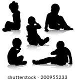 boy silhouette | Shutterstock .eps vector #200955233