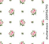 seamless pattern with pink... | Shutterstock .eps vector #200956793