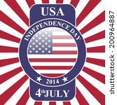 independence day   vector... | Shutterstock .eps vector #200964887