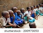 african children in school....   Shutterstock . vector #200973053