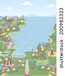 illustration of a theme park... | Shutterstock .eps vector #200982323