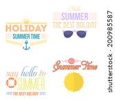 hello summer  holiday  travel... | Shutterstock .eps vector #200985587