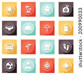 summer shadow button and icon...   Shutterstock .eps vector #200990033